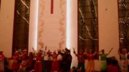 (赞美歌声唱不完)民族团结舞蹈,云南,大理,下关感恩堂