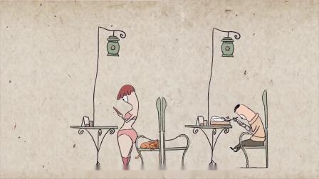 讽刺短片《低头人生》,女人玩手机坐扁椅子上的猫,大人都该看看