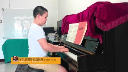 车尔尼钢琴初级教程 Op.599 No.19