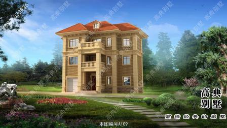 三层简欧别墅,村里建欧式别墅的真的挺多的,外观也挺好看