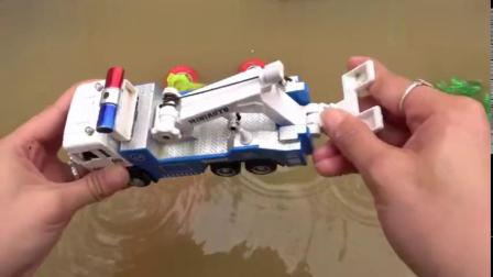 发现飞机和汽车搅拌车玩具,婴幼儿宝宝过家家游戏玩具视频