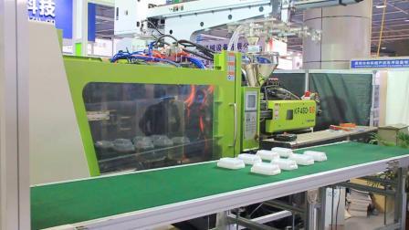宝捷KF460-S6高速薄壁专用注塑机一出8生产500mL快餐盒