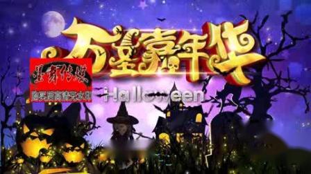 万圣节南瓜巫婆墓碑蝙蝠万圣节背景万圣节视频万圣节主题视频素材