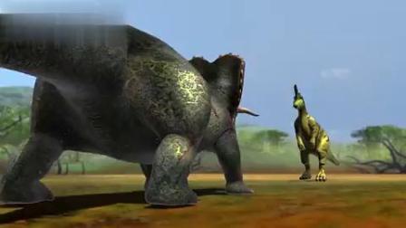 恐龙动漫特效三角龙的两场战斗