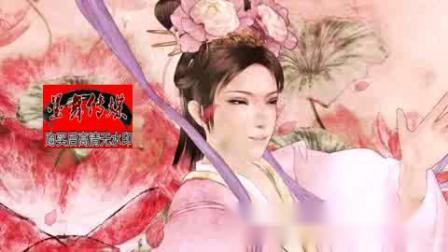 晚会屏幕背景中国画水墨画河流瀑布历史古典古代动态视频素材