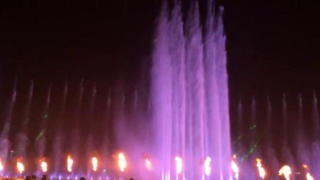 抚顺月牙岛生态公园音乐喷泉-超清_高清