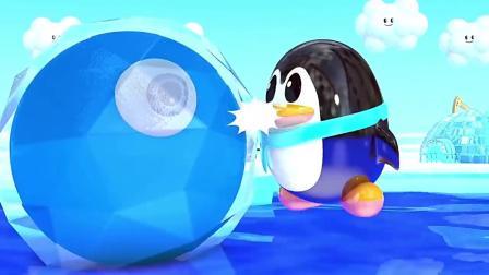 卡通3D球吃彩色冰淇淋变颜色,儿童益智早教!