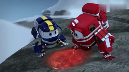 火车飞侠动画片,阿尔夫救援机器人正在山顶进行救援行动