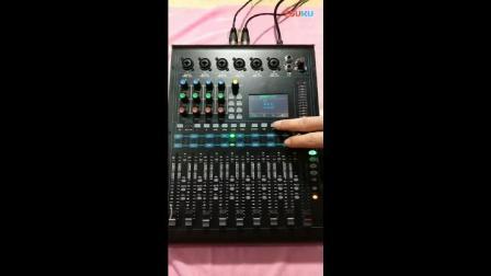 专业数字调音台V12U盘播放歌曲