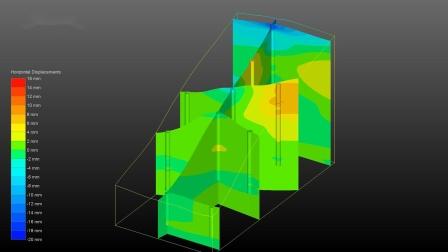 EVS地下水平位移监测数据三维场模型
