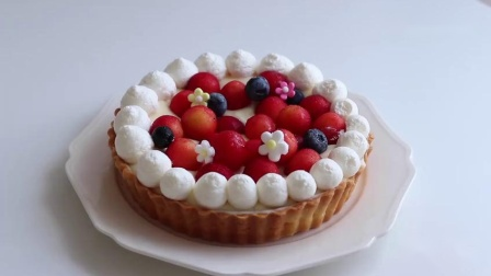 高颜值的樱桃奶油蛋挞,精致美味的下午茶甜点