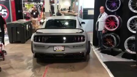 美国改装展野马Mustang改装ACE轮毂AFF06进入SEMA展台