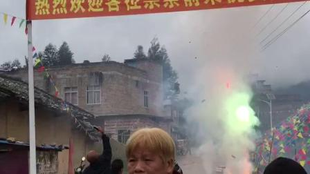 广西北流市新圩六旺卢绵武宗祠进火喜庆.