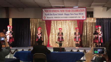 Hmong Merced New Year 2018-19 - Dance comp. Viv Ncaus Koom Siab 1st round.