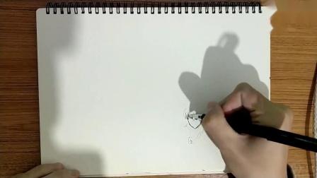 一只黑筆 手繪一拳超人所有人物