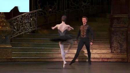 皇家芭蕾舞团,《天鹅湖》第二幕中的黑天鹅舞曲,转圈圈太棒了