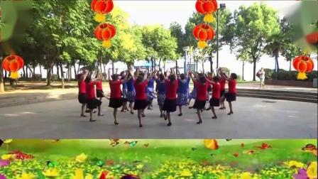 黄石市江鹰广场舞健身队展示 迎酒欢歌_标清