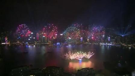 2019香港维多利亚港迎新年烟花秀