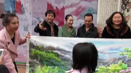 朝鲜平壤美术大学画家捐赠特等奖作品