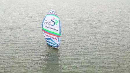 华中科技大学校友帆船队球帆航拍