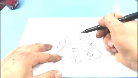 儿童简笔画:1分钟学会画圣诞树!