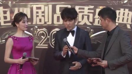 """2018电视剧品质盛典""""小太阳""""钟汉良照暖红毯"""