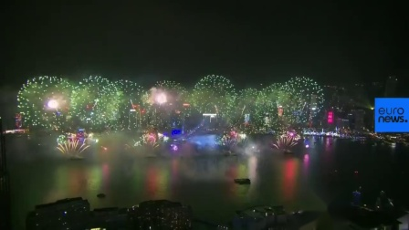 Hong Kong New Year Fireworks 2019