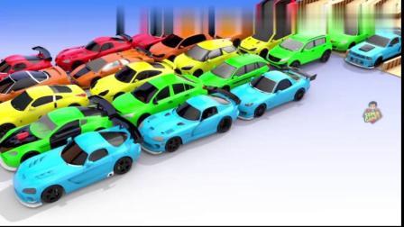 信趣味益智早教动画,汽车穿过不同的形状变成了五颜六色8661