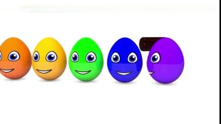 霞儿童早教色彩认知,五彩惊喜蛋敲出小动物帮助宝宝认识各种颜色8557
