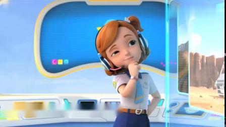 超级飞侠动画片,乐迪今天将飞向智利的太阳谷给一位小女孩送包裹