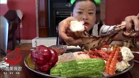 泰国吃播,吃帝王蟹和章鱼,好香啊