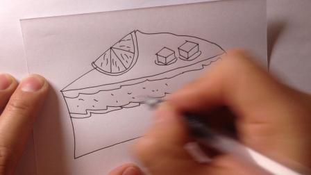 卡通简笔画-生日蛋糕的画法12
