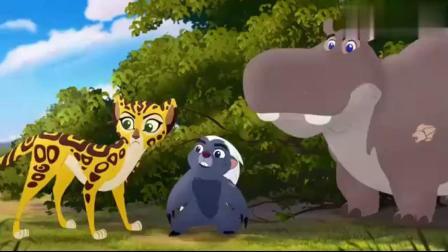 小狮王守护队:凯安为了救斑马,竟不顾个人安危,使出全力