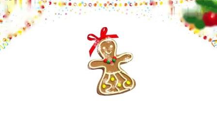 DIY制作美味的姜饼小人、姜饼小屋、圣诞树,儿童早教玩具