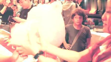 用棉花糖制作的小动物,萌萌的小熊,萌化了少男的心
