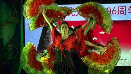 热烈祝贺冼太诞1506周年广场舞晚会--金塘圩健身舞蹈队(火火中国梦)
