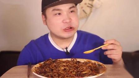 【韩国吃播】  大盘海鲜炸酱面 香喷喷,馋的我口水直流~1
