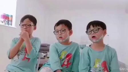 宋家三胞胎长大了,这三个移动的表情包,真是
