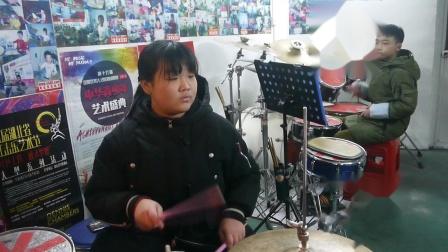 段梦萱 范承荣 《学猫叫》周盛赟鼓立方 架子鼓练习20190106