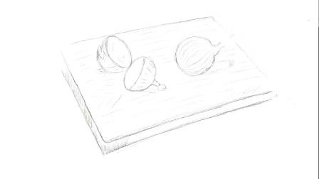 Procreate 两个洋葱素描