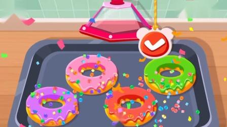 宝宝奇妙咖啡店制作甜甜圈和蛋糕游戏