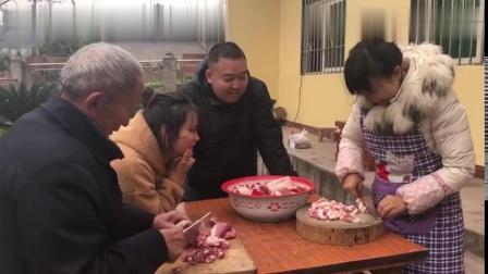 又到灌香肠的季节,农村幺妹儿教灌正宗四川辣肠,馋死了8557