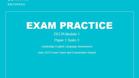 DELTA Module 1 Paper 1 Task 3 strategies