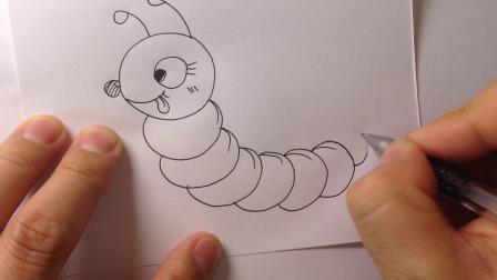 儿童简笔画-毛毛虫