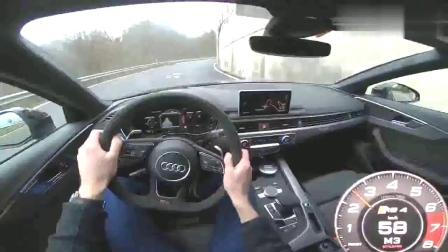 第一视角2018奥迪RS4AvantPOV汽车试驾,这车真帅!