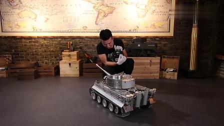 牛人遥控超豪华全合金坦克车,这马力真是太强