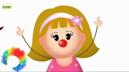 学习颜色与兔子模具和球冰淇淋波普斯克斯指节奏为儿童