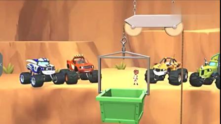 旋风战车队:飙速利用吊篮从洞里救起石塔拉,找来重东西吊它上来