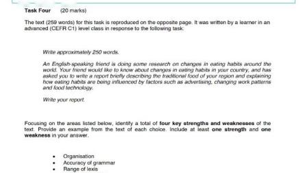 DELTA Module 1 Paper 1 Task 4