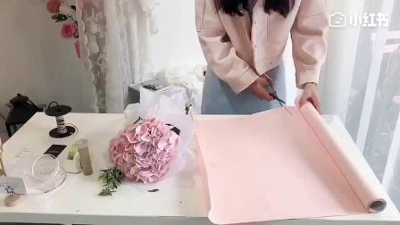 绣球花束包装.mp4